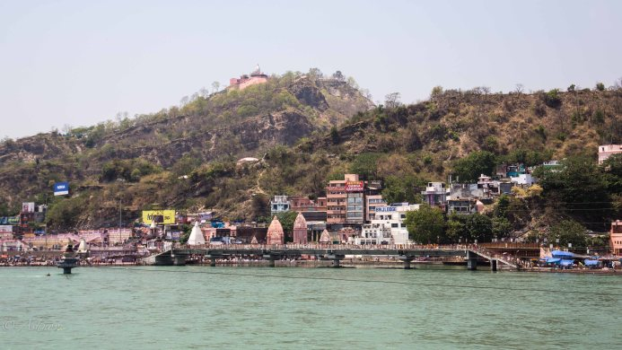 The ghats at Haridwar - en route to our property