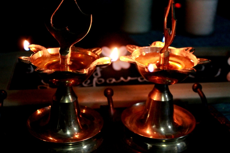 Bring-out-brass-lamps-to-create-a-traditional-feel-to-diwali